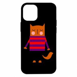 Etui na iPhone 12 Mini Red cat in a sweater