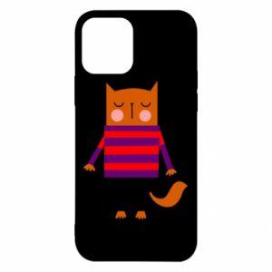 Etui na iPhone 12/12 Pro Red cat in a sweater