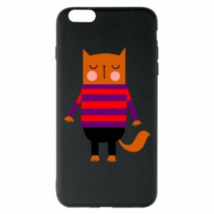 Phone case for iPhone 6 Plus/6S Plus Red cat in a sweater - PrintSalon