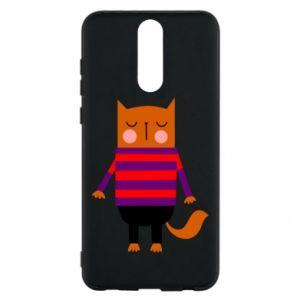 Phone case for Huawei Mate 10 Lite Red cat in a sweater - PrintSalon