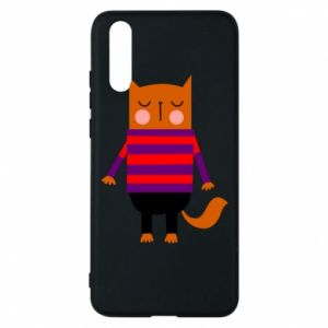 Phone case for Huawei P20 Red cat in a sweater - PrintSalon