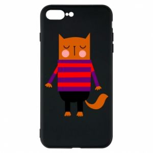 Phone case for iPhone 7 Plus Red cat in a sweater - PrintSalon
