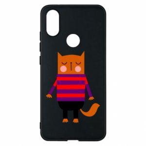 Phone case for Xiaomi Mi A2 Red cat in a sweater - PrintSalon