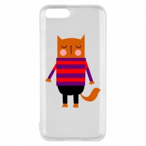 Phone case for Xiaomi Mi6 Red cat in a sweater - PrintSalon