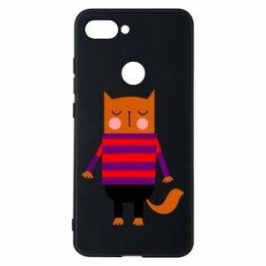 Phone case for Xiaomi Mi8 Lite Red cat in a sweater - PrintSalon