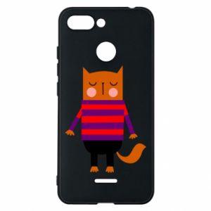 Phone case for Xiaomi Redmi 6 Red cat in a sweater - PrintSalon