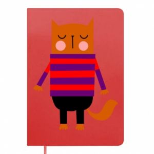 Notes Red cat in a sweater