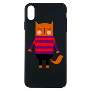 Phone case for iPhone Xs Max Red cat in a sweater - PrintSalon