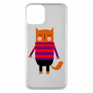 Phone case for iPhone 11 Red cat in a sweater - PrintSalon