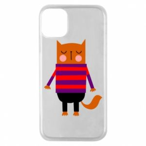 Phone case for iPhone 11 Pro Red cat in a sweater - PrintSalon