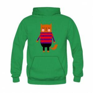 Bluza z kapturem dziecięca Red cat in a sweater