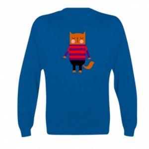 Bluza dziecięca Red cat in a sweater