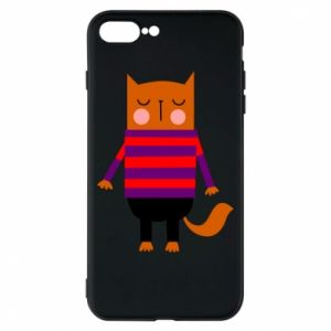 Phone case for iPhone 8 Plus Red cat in a sweater - PrintSalon