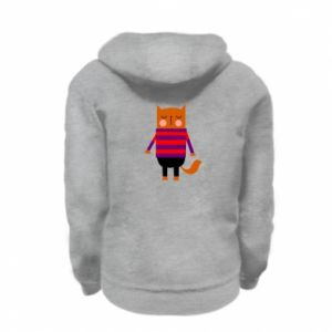 Bluza na zamek dziecięca Red cat in a sweater