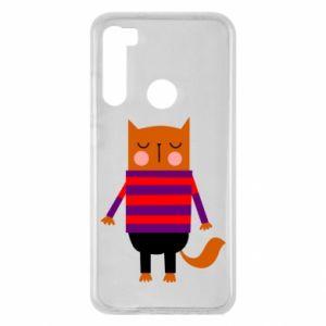 Etui na Xiaomi Redmi Note 8 Red cat in a sweater