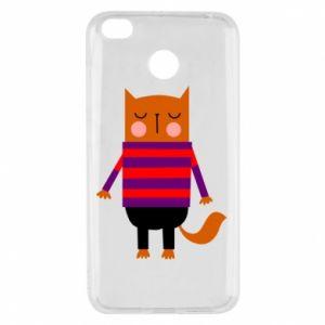Etui na Xiaomi Redmi 4X Red cat in a sweater