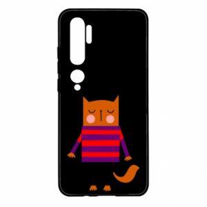 Etui na Xiaomi Mi Note 10 Red cat in a sweater