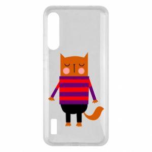 Etui na Xiaomi Mi A3 Red cat in a sweater