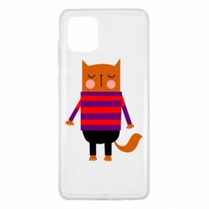 Etui na Samsung Note 10 Lite Red cat in a sweater