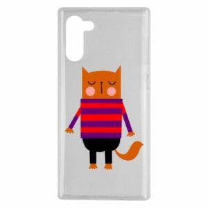 Etui na Samsung Note 10 Red cat in a sweater
