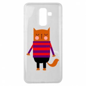 Etui na Samsung J8 2018 Red cat in a sweater