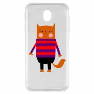 Etui na Samsung J7 2017 Red cat in a sweater