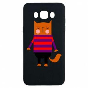 Etui na Samsung J7 2016 Red cat in a sweater
