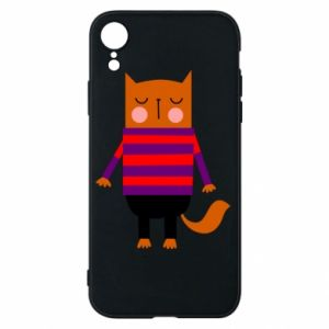 Phone case for iPhone XR Red cat in a sweater - PrintSalon