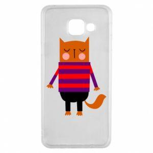 Etui na Samsung A3 2016 Red cat in a sweater
