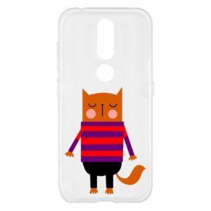 Etui na Nokia 4.2 Red cat in a sweater