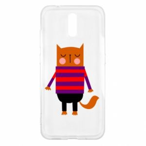 Etui na Nokia 2.3 Red cat in a sweater