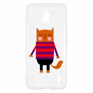 Etui na Nokia 2.2 Red cat in a sweater