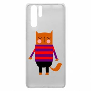 Etui na Huawei P30 Pro Red cat in a sweater