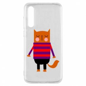 Etui na Huawei P20 Pro Red cat in a sweater