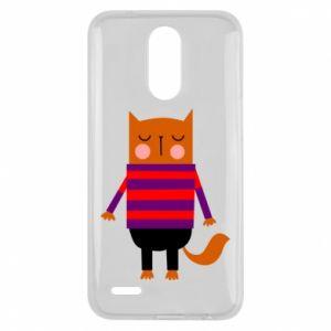 Etui na Lg K10 2017 Red cat in a sweater