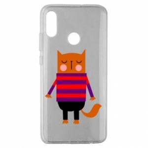 Etui na Huawei Honor 10 Lite Red cat in a sweater