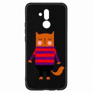 Etui na Huawei Mate 20 Lite Red cat in a sweater