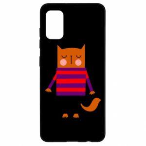 Etui na Samsung A41 Red cat in a sweater