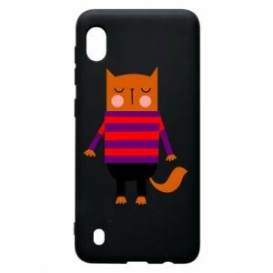 Etui na Samsung A10 Red cat in a sweater