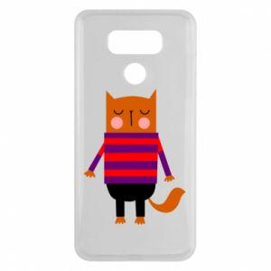 Etui na LG G6 Red cat in a sweater