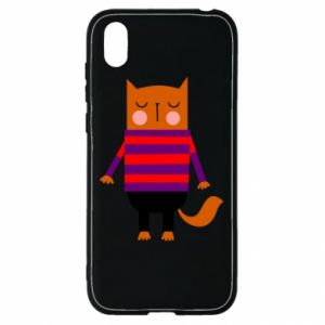 Etui na Huawei Y5 2019 Red cat in a sweater