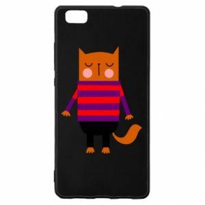 Etui na Huawei P 8 Lite Red cat in a sweater