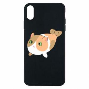 Etui na iPhone Xs Max Red cat mermaid