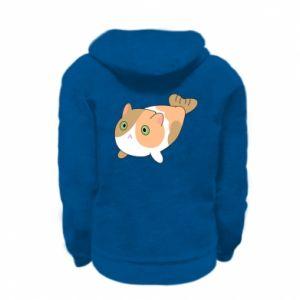 Bluza na zamek dziecięca Red cat mermaid