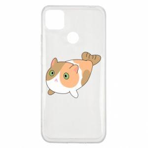 Etui na Xiaomi Redmi 9c Red cat mermaid
