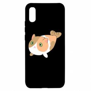 Etui na Xiaomi Redmi 9a Red cat mermaid