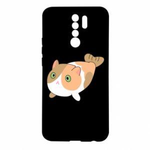 Etui na Xiaomi Redmi 9 Red cat mermaid