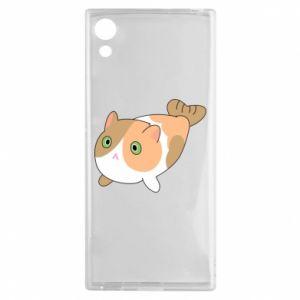Etui na Sony Xperia XA1 Red cat mermaid