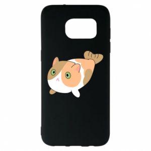 Etui na Samsung S7 EDGE Red cat mermaid