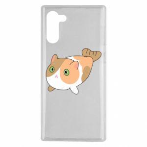 Etui na Samsung Note 10 Red cat mermaid